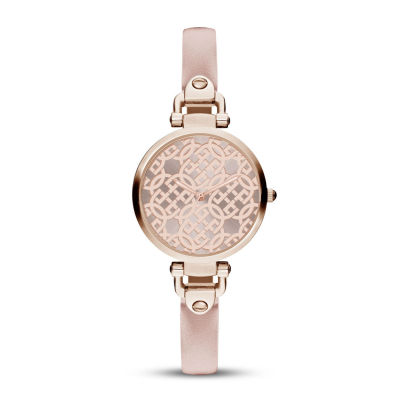 Daisy Fuentes Womens Pink Strap Watch-Df110rglp