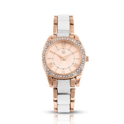 Daisy Fuentes Womens Two Tone Bracelet Watch-Df121rgwt