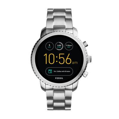Fossil Q - Gen 3 Explorist Silver Tone Smart Watch-Ftw4000