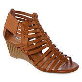 5fd5eb257a3ef a.n.a Womens Meadow Wedge Sandals