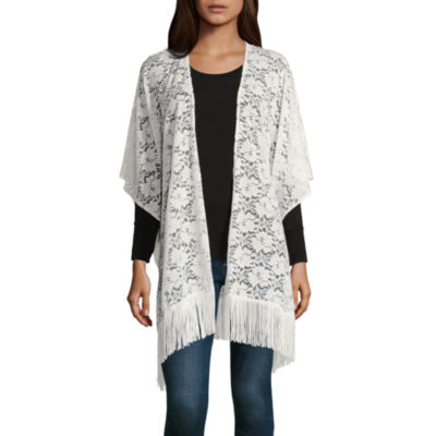 Mixit Lace Fringe Kimono Wrap