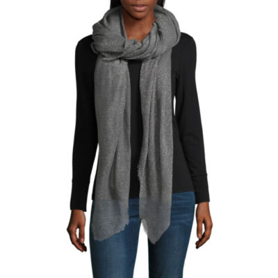 Mixit Solid Shine Oblong Scarf