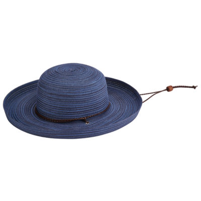 San Diego Hat Company Women's Mixed Kettle Brim with Chin Cord
