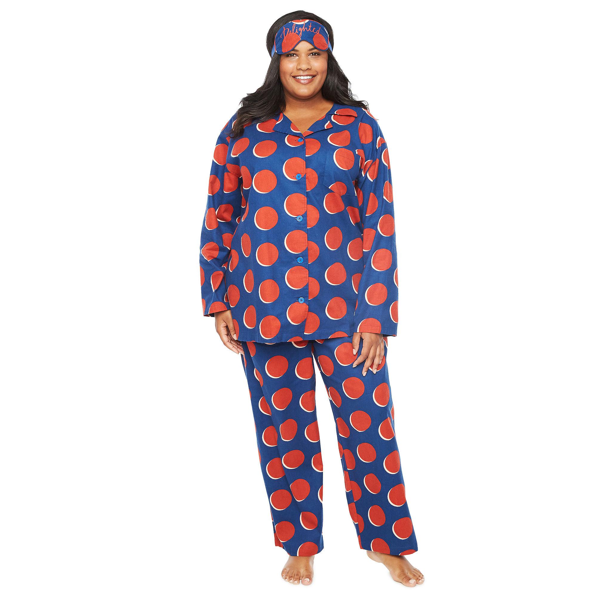 ef47248f711 Tracee Ellis Ross for JCP Pant Pajama Set with Eyemask