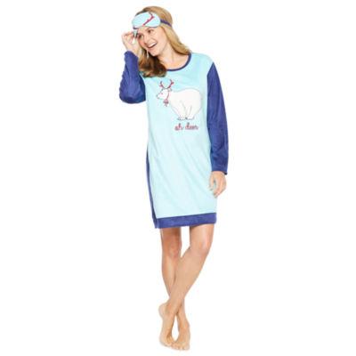 Sleep Chic Womens Nightshirt Long Sleeve