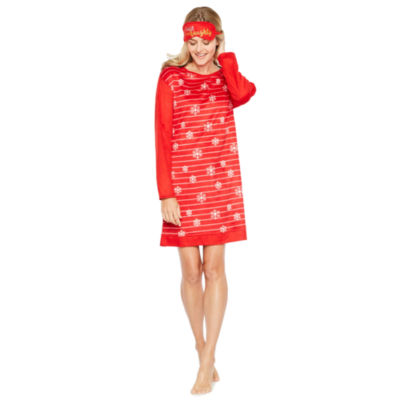 Sleep Chic Long Sleeve Nightshirt