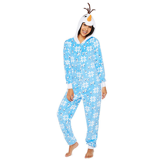 Disney Onesies Womens Juniors Fleece One Piece Pajama Long Sleeve