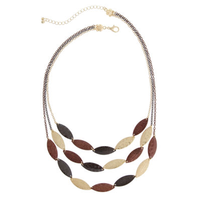 Bold Elements September Bold Elements Womens Collar Necklace