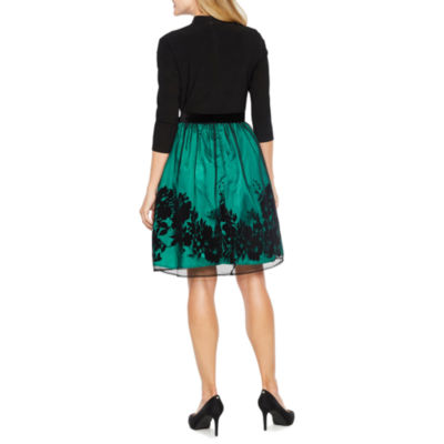 Be by CHETTA B 3/4 Sleeve Party Dress