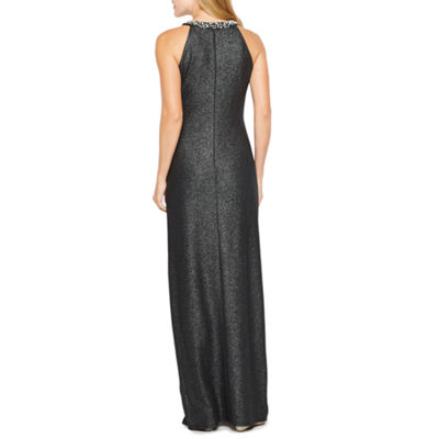Blu Sage Sleeveless Embellished Evening Gown