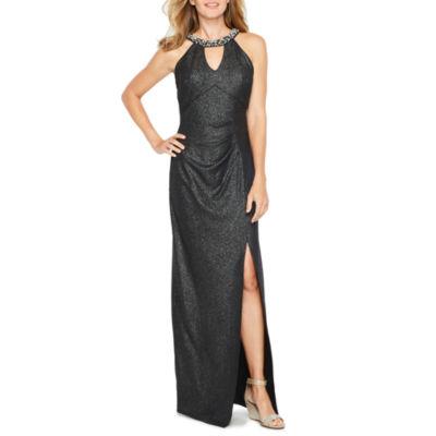 Blu Sage Sleeveless Embellished Evening Gown