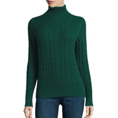 St. John's Bay Turtleneck Sweater - Tall