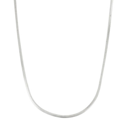 Made in Italy Sterling Silver 22 Inch Solid Snake Chain Necklace