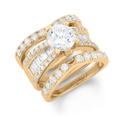 Womens 4 CT. T.W. White Cubic Zirconia Round Bridal Set