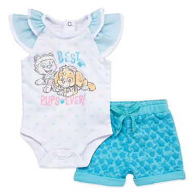 2-pc. Paw Patrol Bodysuit Set-Newborn Girls