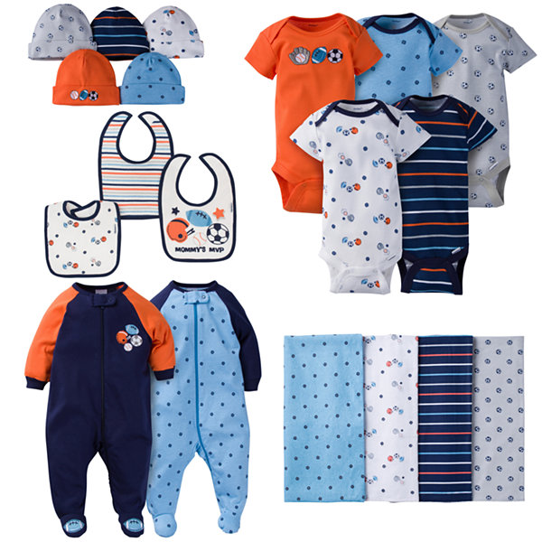 Gerber® 19 Piece Baby Boy Sports Layette Gift Set