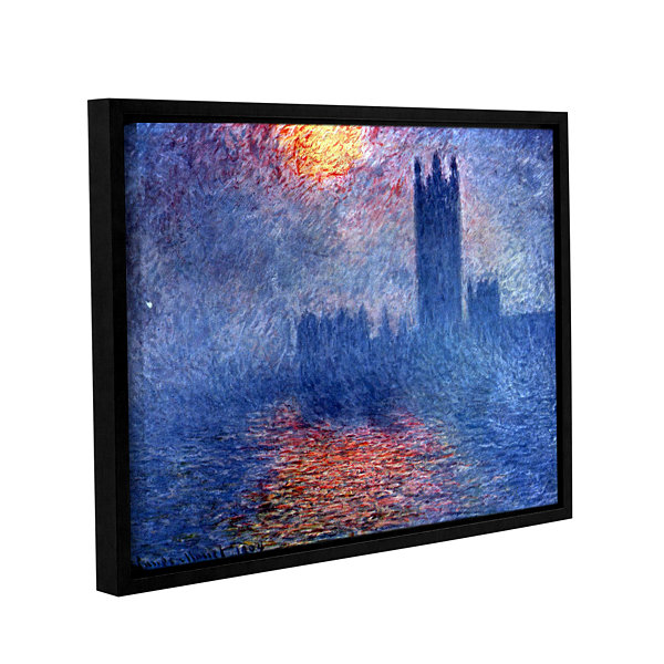 Brushstone House of Parliament Gallery Wrapped Floater-Framed Canvas