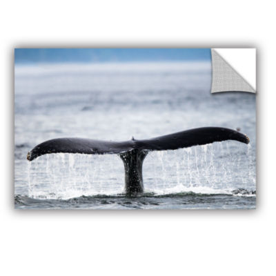 Brushstone Humpback Fluke Close Removable Wall Decal
