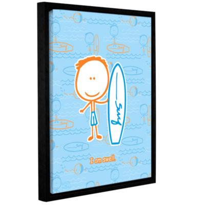 Brushstone I am Swell Gallery Wrapped Floater-Framed Canvas