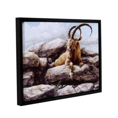 Brushstone Ibex Gallery Wrapped Floater-Framed Canvas