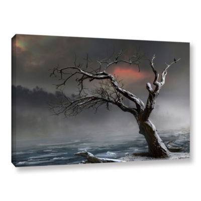 Brushstone Ice Floes Gallery Wrapped Canvas