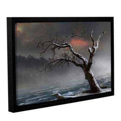 Brushstone Ice Floes Gallery Wrapped Floater-Framed Canvas