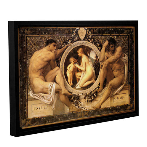 Brushstone Idyll Gallery Wrapped Floater-Framed Canvas Wall Art