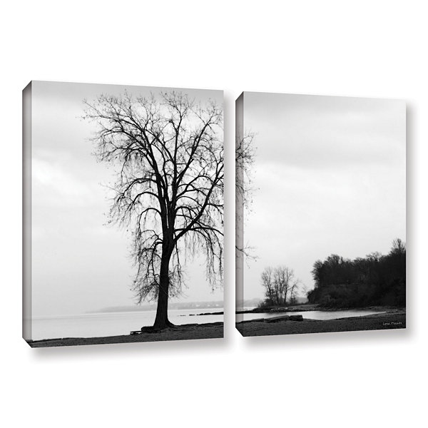 Brushstone Im Right on the Edge 2-pc. Gallery Wrapped Canvas Set
