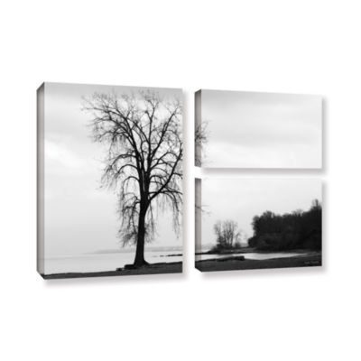 Brushstone I'm Right On The Edge 3-pc. Flag Gallery Wrapped Canvas Wall Art