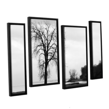 Brushstone Im Right on the Edge 4-pc. Floater Framed Canvas Staggered Set