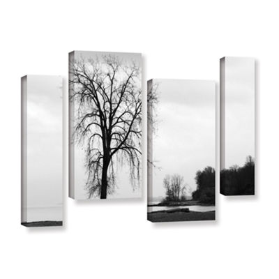 Brushstone Im Right on the Edge 4-pc. Gallery Wrapped Canvas Staggered Set