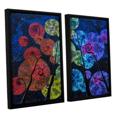 Brushstone In Rainbows 2-pc. Floater Framed CanvasWall Art