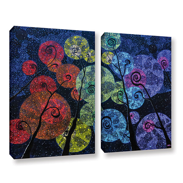 Brushstone In Rainbows 2-pc. Gallery Wrapped Canvas Set