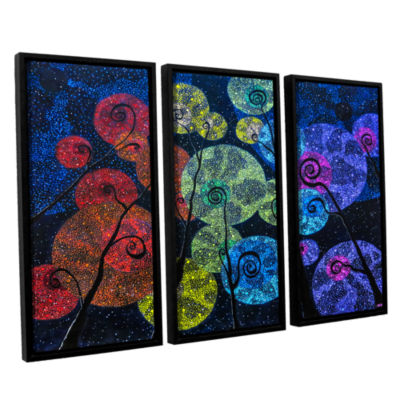 Brushstone In Rainbows 3-pc. Floater Framed CanvasSet