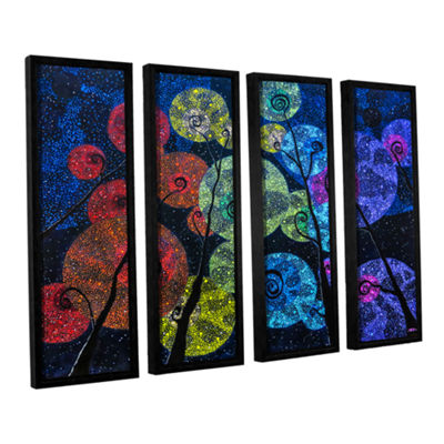 Brushstone In Rainbows 4-pc. Floater Framed CanvasSet