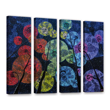 Brushstone In Rainbows 4-pc. Gallery Wrapped Canvas Set