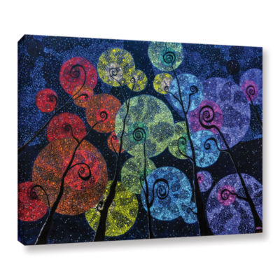 Brushstone In Rainbows Gallery Wrapped Canvas