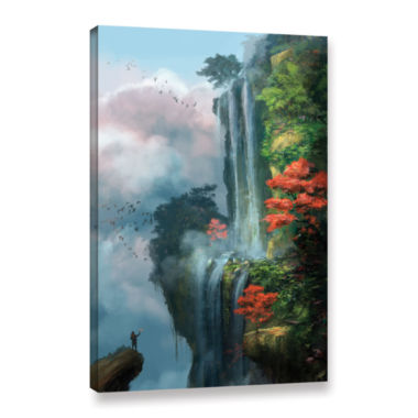 Brushstone In the Clouds Gallery Wrapped Canvas