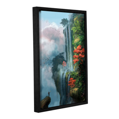 Brushstone In the Clouds Gallery Wrapped Floater-Framed Canvas