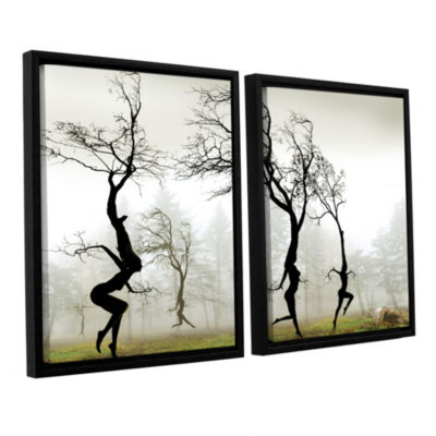 Brushstone In The Mist 2-pc. Floater Framed CanvasSet