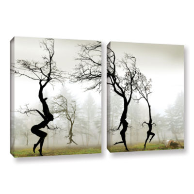 Brushstone In The Mist 2-pc. Gallery Wrapped Canvas Set