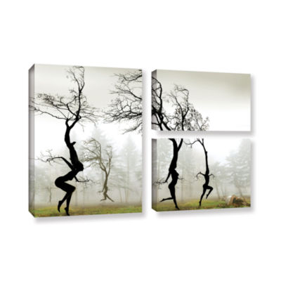 Brushstone In The Mist (026) 3-pc. Flag Gallery Wrapped Canvas Wall Art