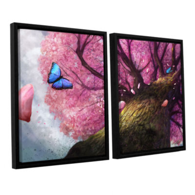 Brushstone In the Shadow of Peace 2-pc. Floater Framed Canvas Set