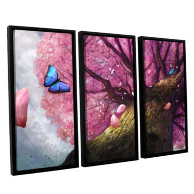 Brushstone In the Shadow of Peace 3-pc. Floater Framed Canvas Set