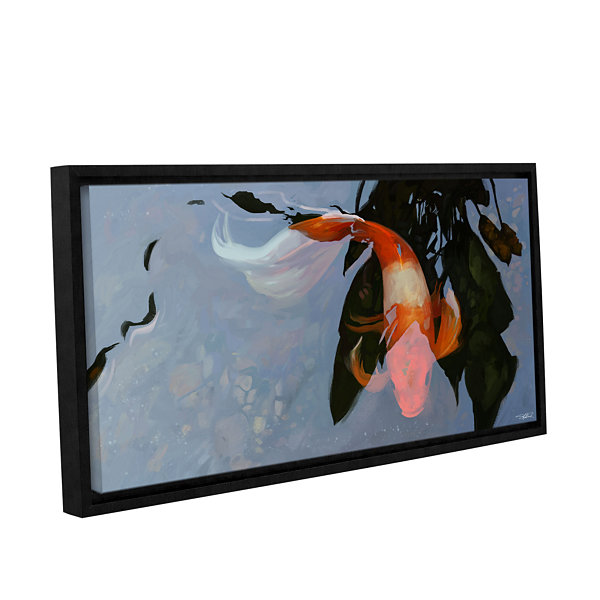 Brushstone In the Shadows Gallery Wrapped Floater-Framed Canvas