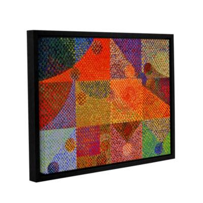 Brushstone Inertia Gallery Wrapped Floater-FramedCanvas