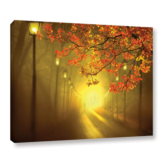 Brushstone Into The Light Gallery Wrapped Canvas