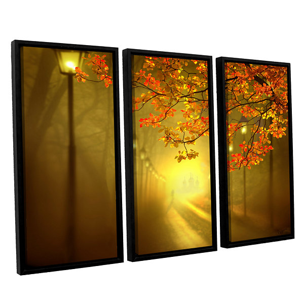 Brushstone Into The Light 3-pc. Floater Framed Canvas Set