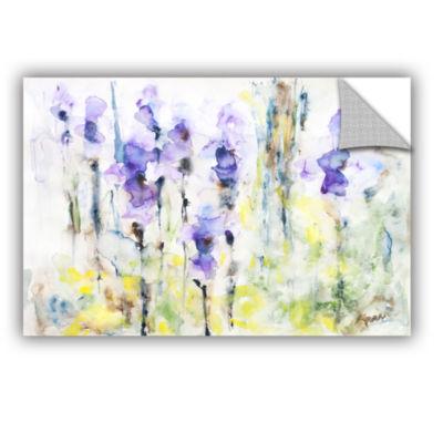 Brushstone Irises Removable Wall Decal