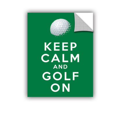 Brushstone Keep Calm And Golf On Removable Wall Decal